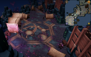Scan clue Heart of Gielinor north-east of first threshold to Vindicta