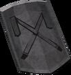 Detailed decorative shield detail