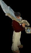 Espada divina de Armadyl equipada