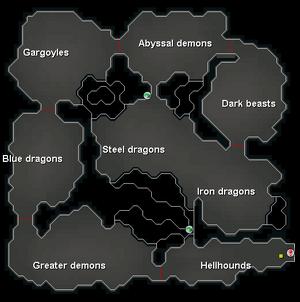 Kuradal's dungeon kaart