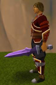 Off-hand mithril ceremonial sword IV equipped