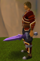 Off-hand mithril ceremonial sword IV equipped.png
