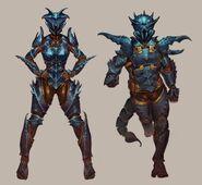 Scorpion outfit concept art