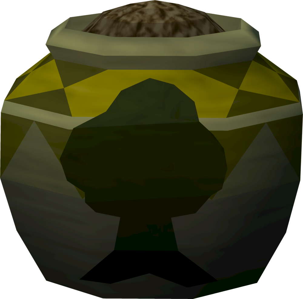 Strong woodcutting urn (full) detail