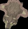 Tanned fenris wolf pelt detail