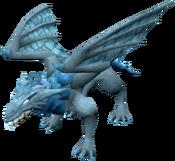 Um dragão gelado