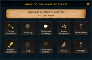 Wizard Banquet interface