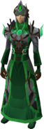 Guthixian war robes equipped