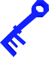 Key (blue) detail