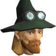 Runecrafter hat (green, goggles on) chathead