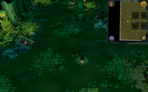 Scan clue Brimhaven Dungeon lower level west side of iron and steel dragon chamber