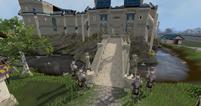 White knight castle entrance