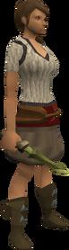 Zephyrium dagger equipped