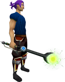 Augmented Ahrim's wand equipped