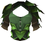 Blessed dragonhide body (Guthix) detail