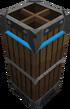 Blue barrier tall