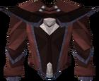 Dark mystic robe top detail