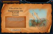 Impressing the Locals reward (old)