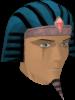 Pharaoh's nemes (blue) chathead