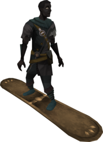 Snowboard (tier 1) equipped
