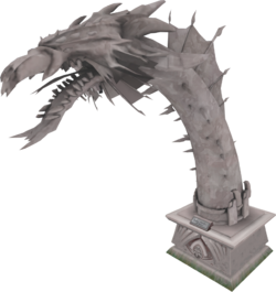 2012 Queen Black Dragon statue