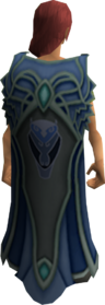 Clan Amlodd cape equipped