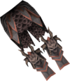 Malevolent greaves detail