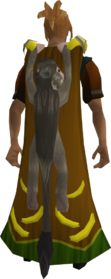 Monkey cape equipped