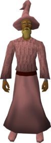 Pink robe set equipped