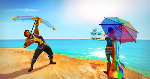 Rainbow parasol and bow news image