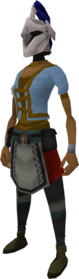 Rune heraldic helm (Arrav) equipped