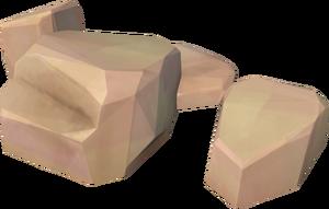 Sandstone boulder (small)
