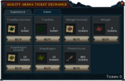 Agility Arena Interface Items