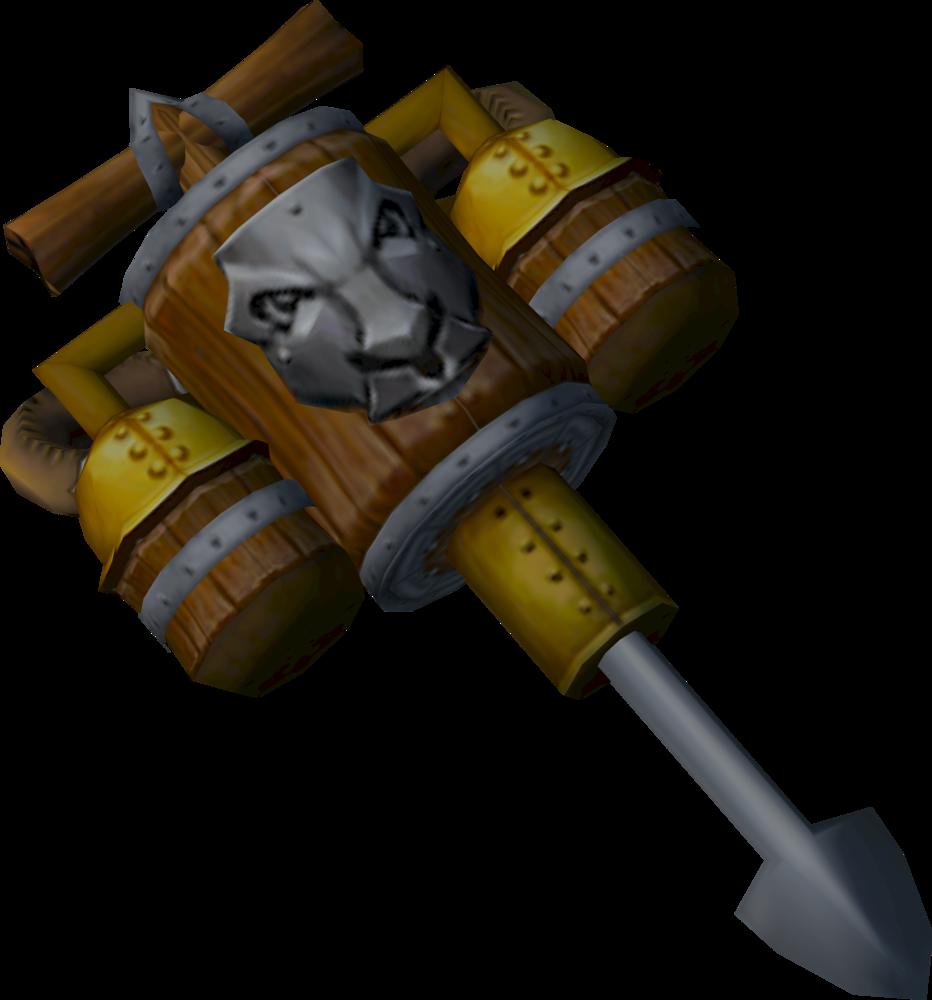Dwarven ramhammer detail