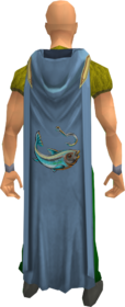 Hooded fishing cape equipped