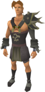 Replica Bandos armour equipped (male)