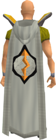 Retro hooded runecrafting cape equipped