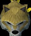 Werewolf mask (gold, male) detail