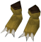Werewolf paws (gold, female) detail