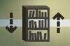 Wooden bookcase (flatpack) detail