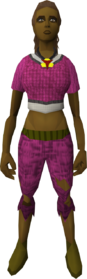 Armadyl pendant (female) equipped