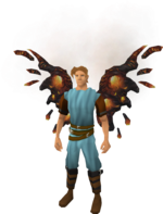 Lava wings equipped