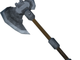 Steel battleaxe
