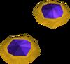 Theatrical earrings (purple) detail