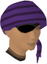 Bandana and eyepatch (purple) chathead