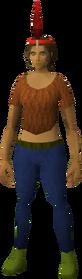 Chompy bird hat (ogre yeoman) equipped