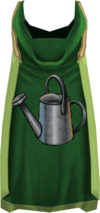 Hooded farming cape (t) detail