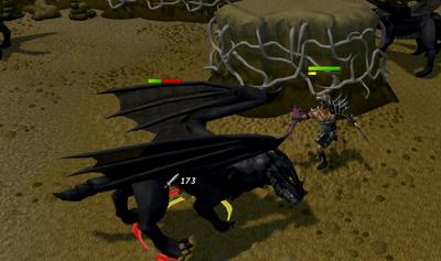 Killing black dragons