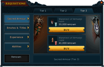 Requisitions Sacred Armour (Armadyl Tier 3)