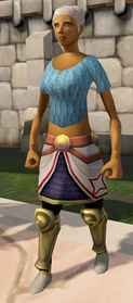 Second-Age range legs equipped